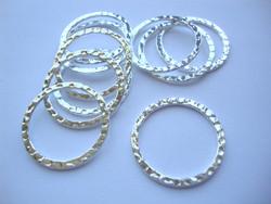 Korulinkki / linkkirengas pyöreä hopeoitu 25 mm (10 kpl/pss)