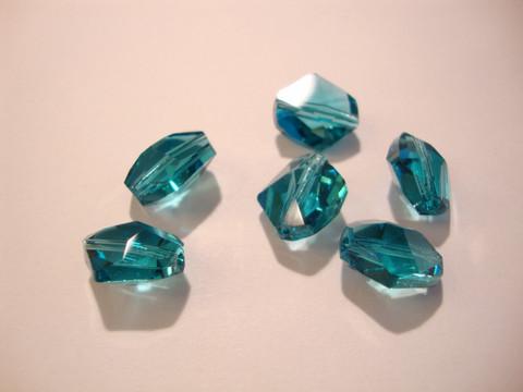Swarovski kristallihelmi Indicolite turkoosi/vihreä Cosmic 12 mm (2/pss)