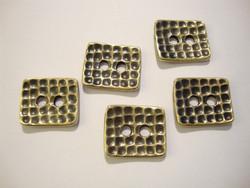 TierraCast Metallinappi kulmikas 'Taottu' pronssi 15 x 13 mm