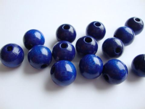 Rayher Puuhelmi kirkas sininen pyöreä 12 mm (32 kpl/pss)