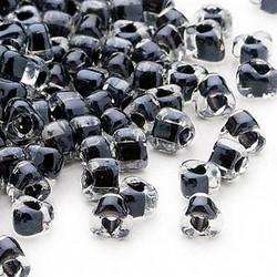 Miyuki siemenhelmi kolmio 4x4x3 mm kirkas-musta sisus TR1106 (10 g/pss)