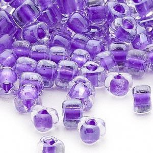 Miyuki siemenhelmi kolmio 4x4x3 mm kirkas-violetti sisus TR1123 (10 g/pss)