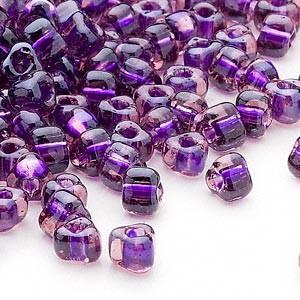 Miyuki siemenhelmi kolmio 4x4x3 mm meripihka-violetti-kirkas TR1835 (10 g/pss)
