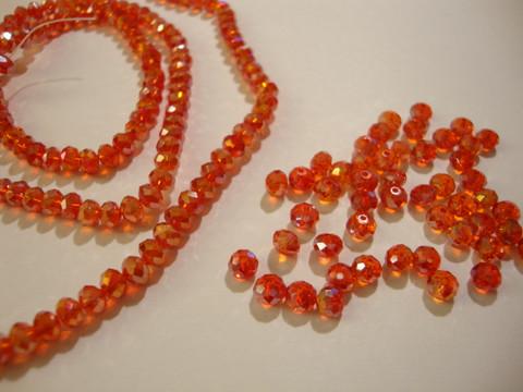 Kristallihelmi punainen  (Light Siam) AB rondelli 3 x 4 mm (20/pss)