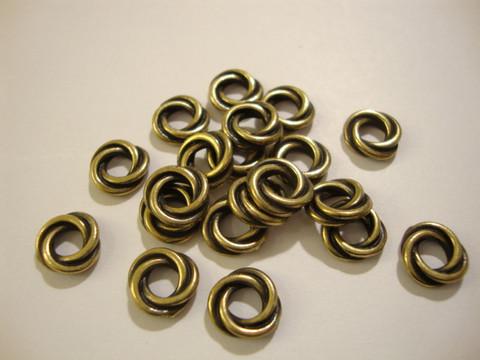 TierraCast Metallihelmi kierretty rengas pronssi 8 mm (4 kpl/pss)