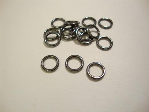 Välirengas 5 x 1 mm suljettu/kiinteä musta (30 kpl/pss)
