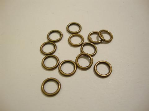 Välirengas 5 x 1 mm suljettu/kiinteä pronssi/antiikkimessinki (30 kpl/pss)