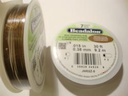 Beadalon koruvaijeri 7-säikeinen pronssinvärinen 0,38 mm, (9,2 m kela)