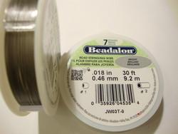 Beadalon koruvaijeri 7-säikeinen kirkas teräs 0,46 mm (9,2 m kela)