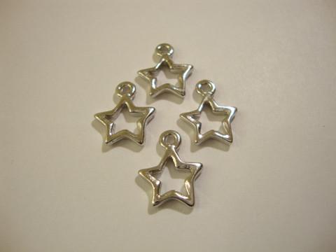 TierraCast Riipus Avoin tähti hopeoitu 10 mm (2 kpl/pss)