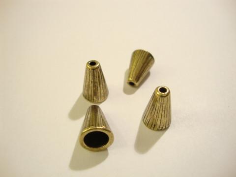 TierraCast Helmihattu / kalotti pronssi 12,5 x 9,5 mm (2/pss)