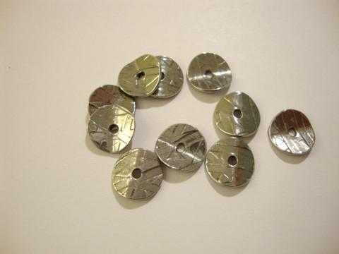 TierraCast Metallihelmi/helmihattu hopeoitu Aaltoileva 10 mm (4/pss)