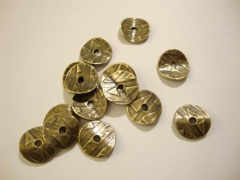 TierraCast Metallihelmi/helmihattu pronssi Aaltoileva 10 mm (4/pss)