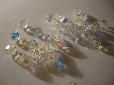 Swarovski kristallihelmi kirkas AB pyöreä 6 mm (4/pss)