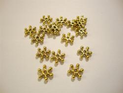 Välihelmi litteä rondelli Lumihiutale kullattu 7,7 mm (n.46/pss)
