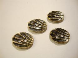 TierraCast Metallinappi ovaali simpukkakuvio pronssi 18 x 14 mm