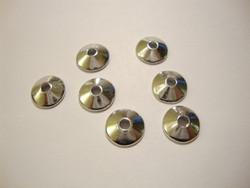 TierraCast Helmihattu hopeoitu sileä 10 mm (4 kpl/pss)