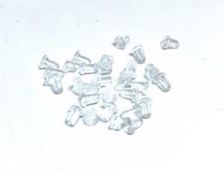KK Korvakorun taustakappale väritön silikoni 5 x 4 mm (100 kpl/pss)