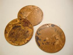 Vintaj kuparinen riipuspohja pyöreä 25,5 mm