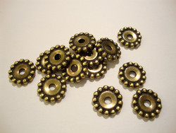 TierraCast Metallihelmi pallokuvioitu pronssi 12 mm (4 kpl/pss)