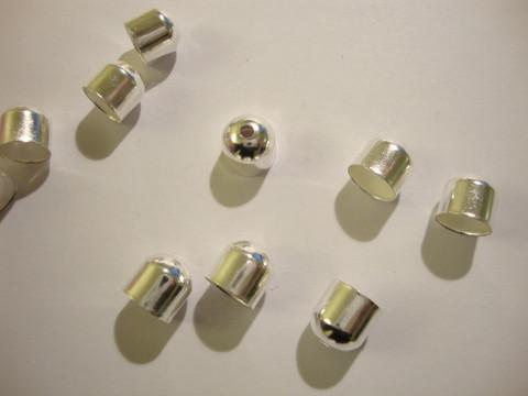 Nauhanpää hopeoitu 8 x 8 mm, sisähalkaisija 7 mm (20 kpl/pss)