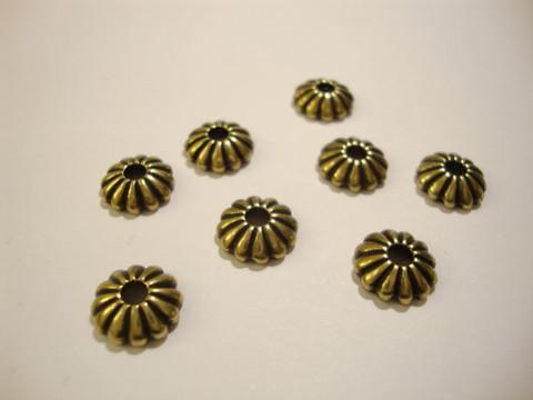 TierraCast Helmihattu uritettu pronssi pyöreä 10 mm (4 kpl/pss)
