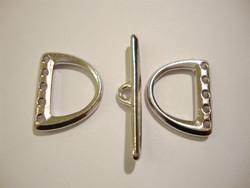 TierraCast Salpalukko / monitoimiosa 5-reikäinen hopeoitu 19 x 15 mm