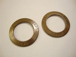 Vintaj linkkirengas Love (Rakasta) 23 mm / sisähalkaisija 15 mm