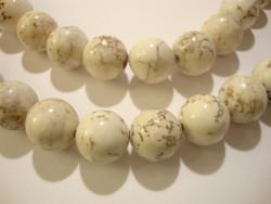 Kivihelmi Magnesiitti valkoinen pyöreä 12 mm (10 kpl/pss)