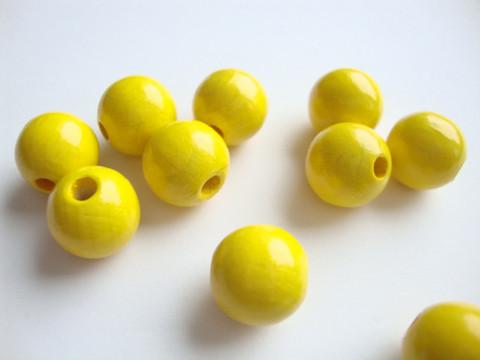 Rayher Puuhelmi keltainen 12 mm (32 kpl/pss)
