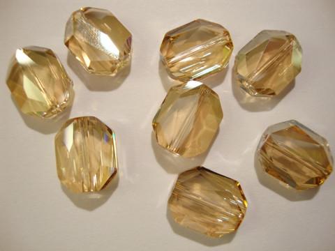 Swarovski kristallihelmi kulta Golden shadow Graphic 12 mm (2/pss)
