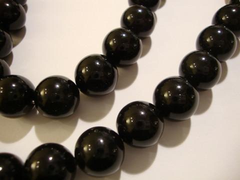 Osterinkuorihelmi musta 12 mm (2 kpl/pss)