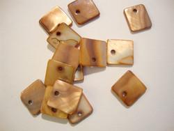 Simpukkariipus neliö ruskea 11 x 11 mm (10 kpl/pss)