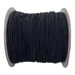 Kuminauha musta 0,8 mm (1 metri)