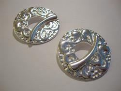 Salpalukko kuvioitu hopeoitu suuri pyöreä 36 mm