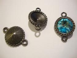 TierraCast Korulinkki rivolille musta pyöreä 24 x 16 mm
