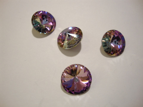 Swarovski kristalli rivoli vaaleanpunainen(Vitrail light) pyöreä 12 mm