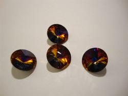 Swarovski kristalli rivoli pinkki/violetti/kupari (Volcano) pyöreä 12 mm