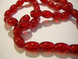 Särölasihelmi rubiinin punainen ovaali 14 x 10 mm (20/pss)