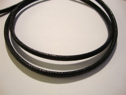 Puuvillanauha vahattu musta n. 3 mm (myyntierä 1 m)