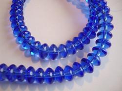 Lasihelmi rondelli sininen 4 x 8 mm (n. 66/nauha)