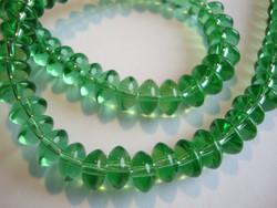 Lasihelmi rondelli vihreä 4 x 8 mm (n. 66/nauha)