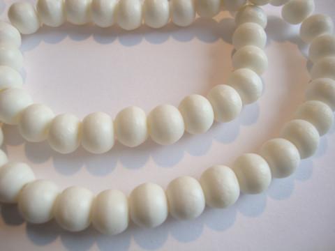 Luuhelmi valkoinen pyöreä 8 mm (20 kpl/pss)