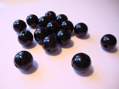 Rayher puuhelmi musta pyöreä 12 mm (32 kpl/pss)