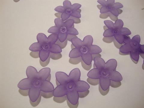 Lucitehelmi Kukka lila 5-terälehteä 17 mm