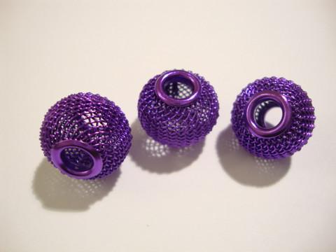 Verkkohelmi/punoshelmi teräs violetti/lila 13 x 16 mm, reikä n. 5 mm