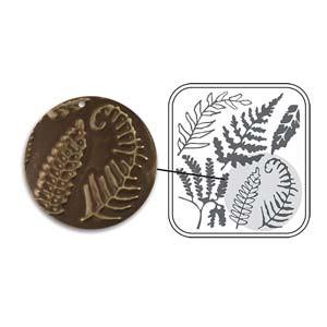Vintaj DecoEmboss metallinpainolevy Fern (Saniainen)