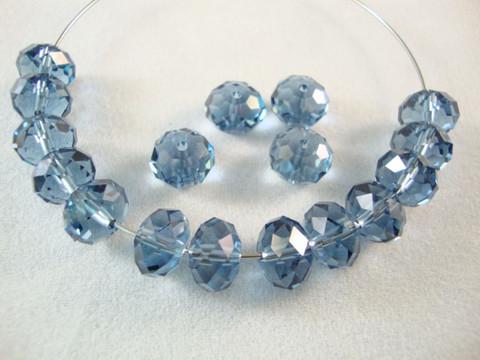 Swarovski kristallihelmi denim rondelli 6 x 8 mm (6/pss)