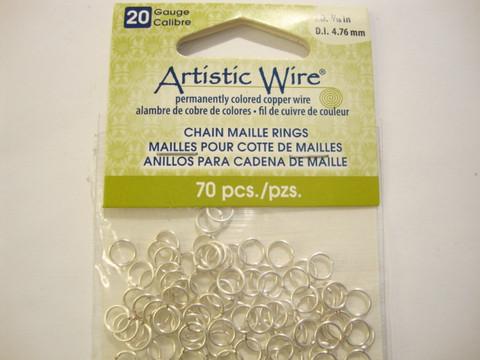 Artistic Wire avorengas ketjujen punontaan 6 mm 20 Gauge (70 kpl/pss)