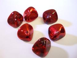 Tsekkiläinen lasihelmi 'Magic' Siam punainen nuggetti 11 x 15 mm (2 kpl/pss)